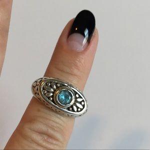 Sterling Silver & Aquamarine Ring